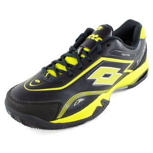 LOTTO MENS VECTOR V SHOES BLACK/YELLOW