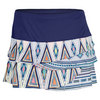 Women`s Aztec Scallop Tennis Skirt Navy by LUCKY IN LOVE