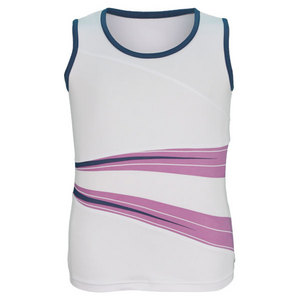 BOLLE GIRLS FOREVER YOUNG TENNIS TANK WHITE