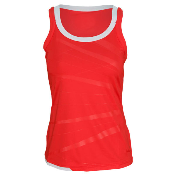 Women's Star Burst Tennis Tank Coral