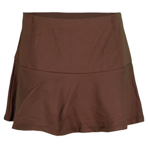 VICKIE BROWN WOMENS DROP YOKE TENNIS SKORT BROWN