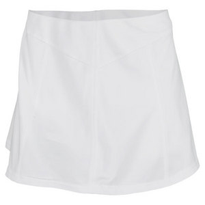 VICKIE BROWN WOMENS PANELED TENNIS SKORT WHITE