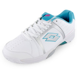 LOTTO WOMENS T-TOUR 600 SHOES WH/JAVA BLUE