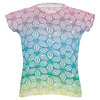 LUCKY IN LOVE Girls` Rainbow Hearts Burnout Tennis Tee