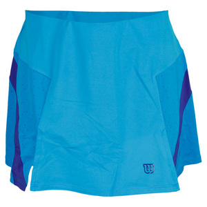 WILSON WOMENS GET IT A LINE TENNIS SKIRT CYAN