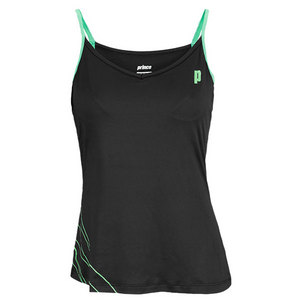 PRINCE WOMENS SPAGHETTI STRAP TENNIS TOP BLACK