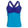 WILSON Women`s Get It Strappy Tennis Tank Cyan and Ink