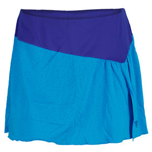 WILSON WOMENS GET IT FLOUNCE TENNIS SKIRT CYAN