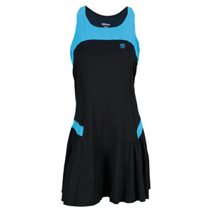 WILSON WOMENS GET IT RACERBACK DRESS BK/CYAN