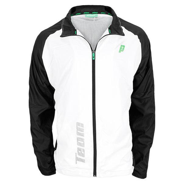 Men's Warm Up Tennis Jacket White And Black