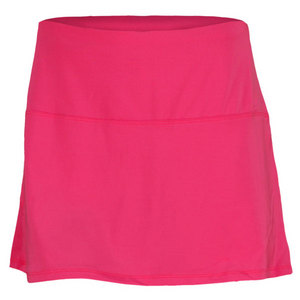 LUCKY IN LOVE WOMENS TUMMY CONTROL TENNIS SKIRT PINK