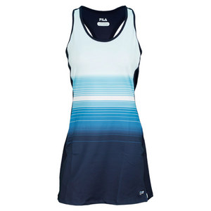 FILA WOMENS HERITAGE PRINTED RACERBACK DRESS