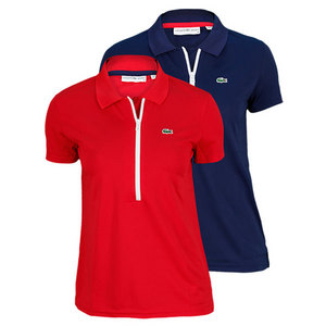 LACOSTE WOMENS SHORT SLEEVE PIQUE TENNIS POLO