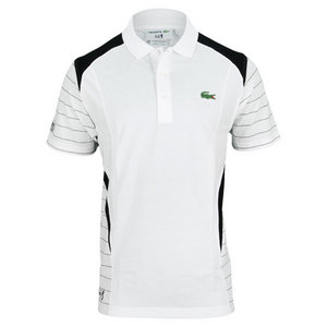 LACOSTE MENS ANDY RODDICK GEOMETRIC TENNIS POLO