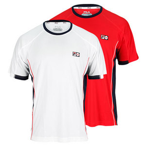 FILA MENS HERITAGE COLORBLOCK TENNIS CREW