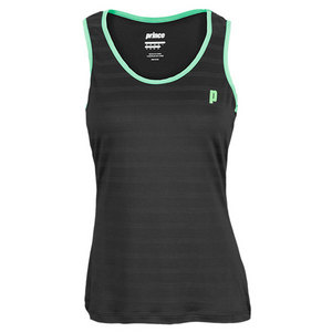 PRINCE WOMENS TENNIS TANK BLACK AND GREEN