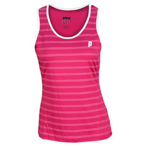 PRINCE WOMENS TENNIS TANK BERRY AND WHITE