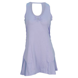 LIJA WOMENS KEYHOLE TENNIS DRESS BLUE