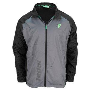 PRINCE MENS WARM UP TENNIS JACKET GRAY/BLACK
