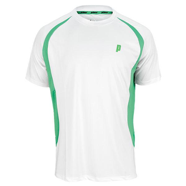 Men`s Tennis Crew White and Green