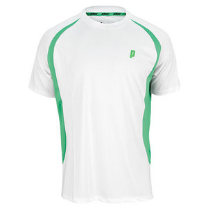 PRINCE MENS TENNIS CREW WHITE AND GREEN