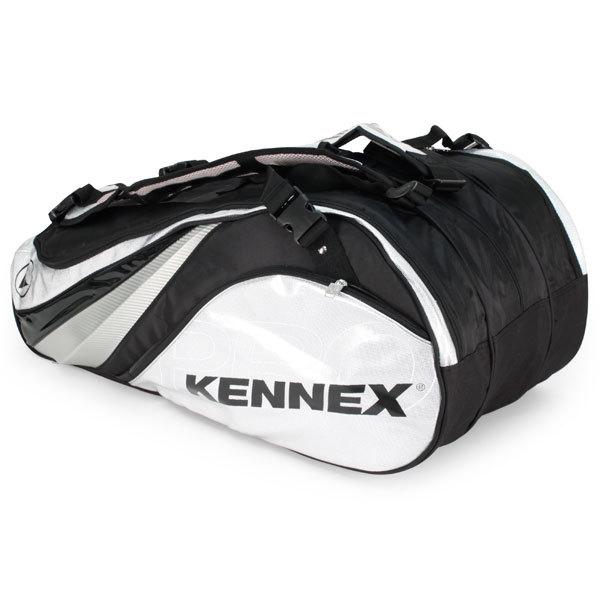 Q Series 12 Pack Tennis Bag Silver And Black