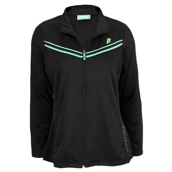 Women`s Zip Tennis Jacket Black