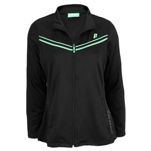 PRINCE WOMENS ZIP TENNIS JACKET BLACK