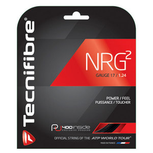 NRG2 17g Tennis Strings Black