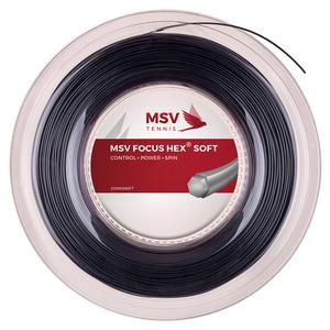MAUVE SPORTS FOCUS HEX SOFT 125 REEL STRING BLACK