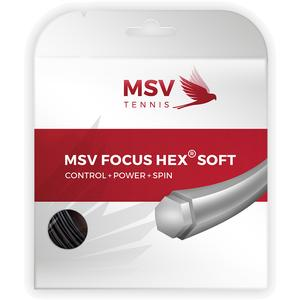 MAUVE SPORTS FOCUS HEX SOFT 125 TENNIS STRING BLACK