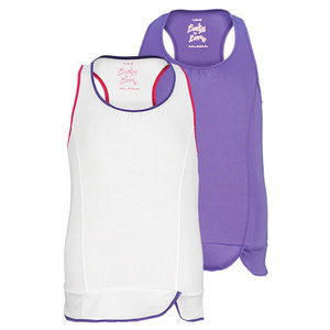 LUCKY IN LOVE GIRLS PEPLUM TENNIS TANK