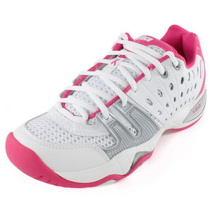 Women`s T22 Breast Cancer Awareness Month Tennis Shoes White and Pink