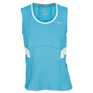 NIKE WOMENS POWER TENNIS TANK BLUE