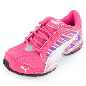 PUMA JUNIORS VOLTAIC 3 RUNNING SHOES PINK