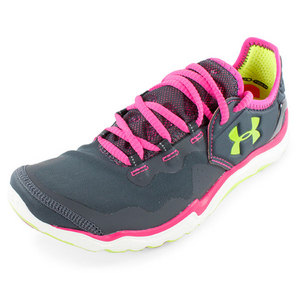 UNDER ARMOUR WOMENS CHARGE RC 2 RUN SHOES GRAY/PINK