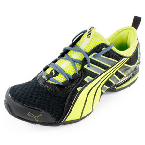 PUMA MENS VOLTAIC 4 FADE RUNNING SHOE BK/LIME