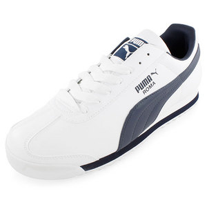PUMA MEN`S ROMA BASIC TRAINING SHOE WHITE AND