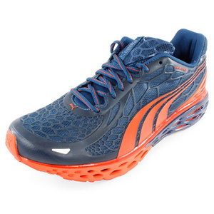 Men`s Bioweb Elite NM Running Shoes Navy and Orange