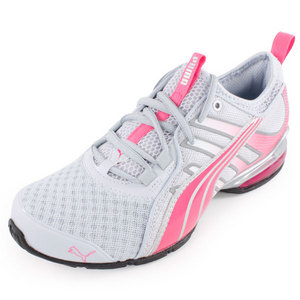 PUMA WOMENS VOLTAIC 4 FADE RUN SHOES WH/PK