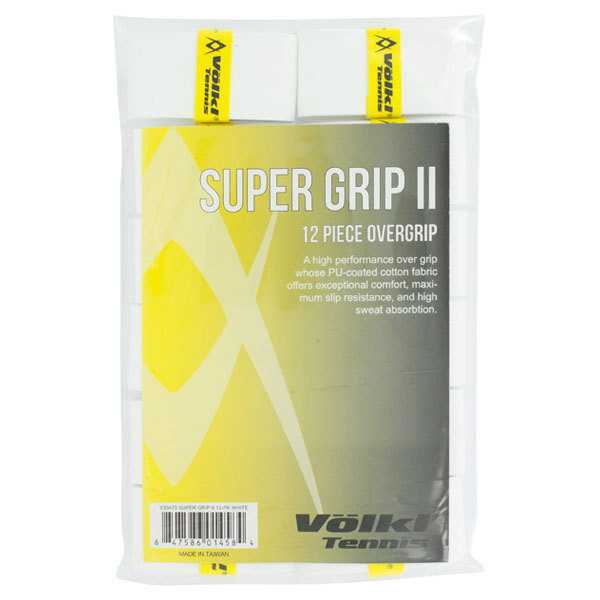 Super Grip Ii Tennis Overgrip 12 Pack White