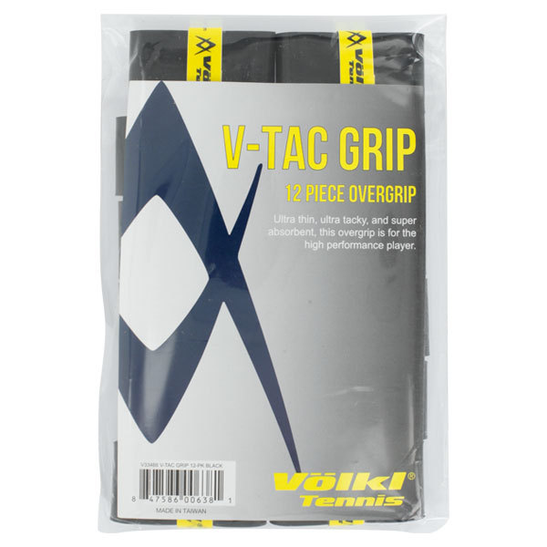 V Tac Tennis Overgrip 12 Pack Black