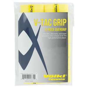 V Tac Tennis Overgrip 12 Pack Neon Yellow