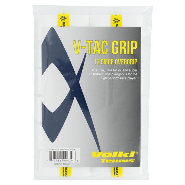 V Tac Tennis Overgrip 12 Pack White