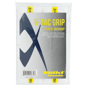 VOLKL V TAC TENNIS OVERGRIP 12 PACK WHITE