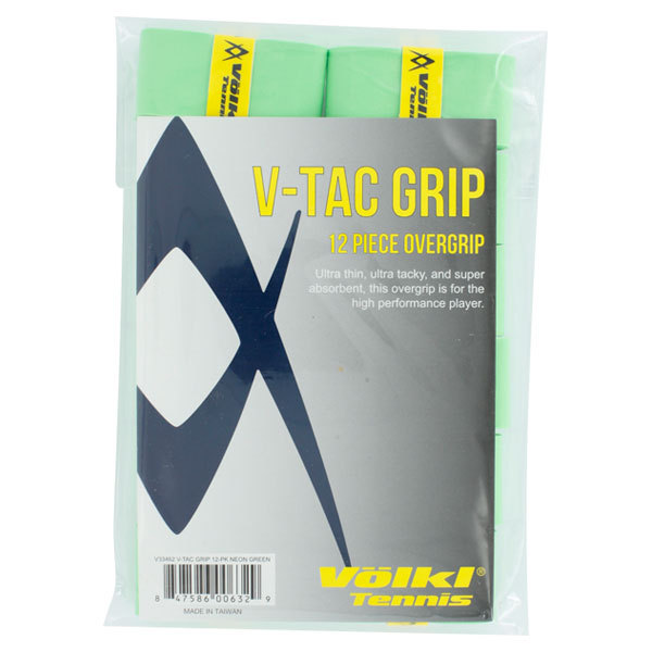 V Tac Tennis Overgrip 12 Pack Neon Green