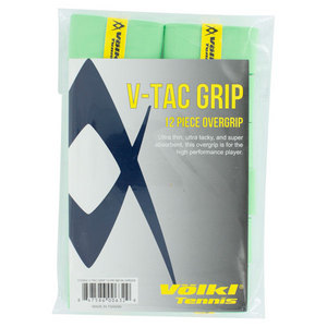 VOLKL V TAC TENNIS OVERGRIP 12 PACK NEON GREEN