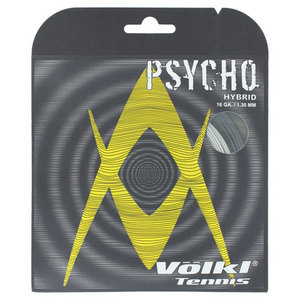 Psycho Hybrid 16G Tennis String Black and Silver