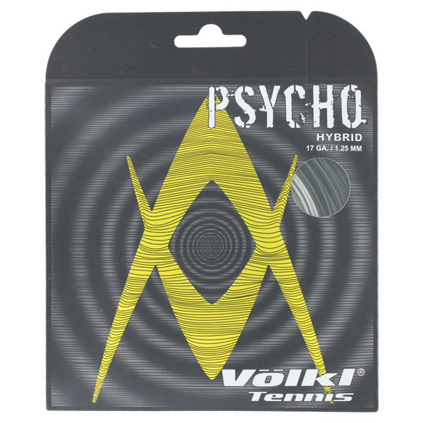 Psycho Hybrid 17g Tennis String Black And Silver
