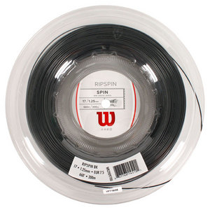 WILSON RIPSPIN 17G TENNIS STRING REEL BLACK